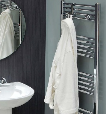 Straight Chrome Heated Towel Rails