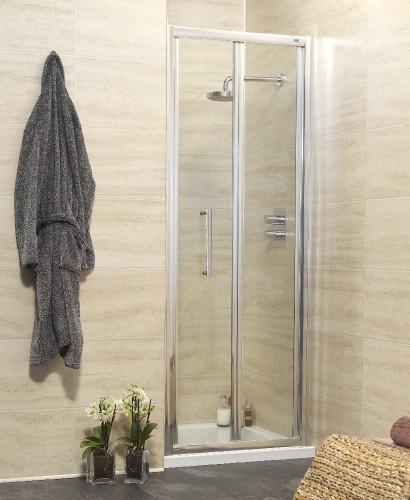 Rival Range 900 Bifold Shower Door - Adjustment 845-900mm