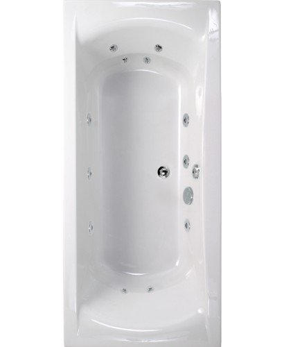 Oxford 1800x800 Double Ended 12 Jet Whirlpool Bath