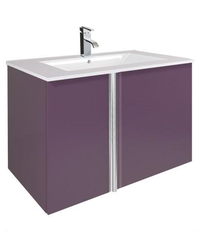 Athena Aubergine 80cm Vanity Unit 2 Door and Basin