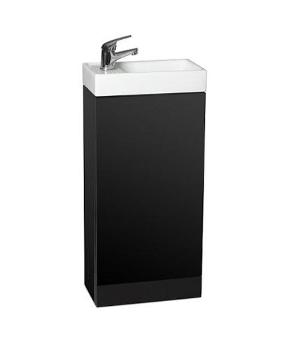 space 40cm black floor standing unit cloakroom basin. Black Bedroom Furniture Sets. Home Design Ideas