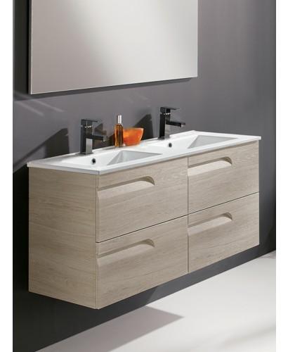 Pravia Maple 120cm Vanity Unit 4 Drawer and Basin