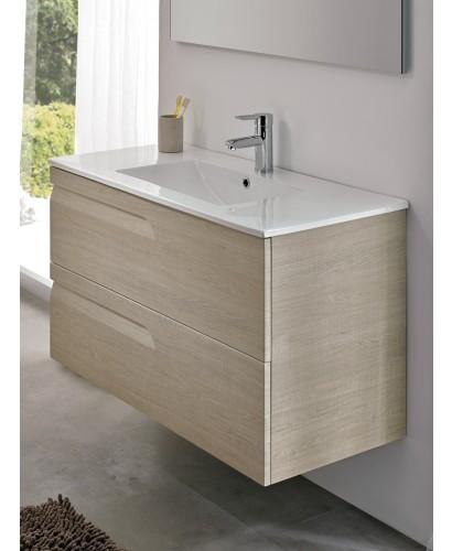 Pravia Maple 80cm Vanity Unit 2 Drawer and Basin