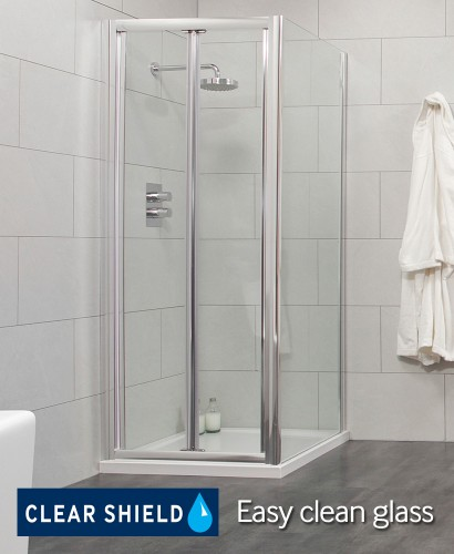 Cello 900 Bifold Shower Enclosure with Side Panel