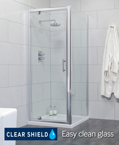 Cello 800 Pivot Shower Enclosure with Side Panel