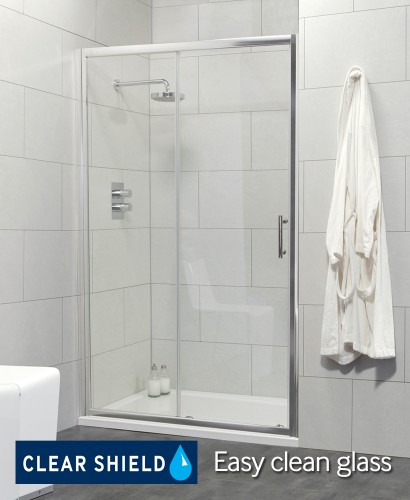Cello Range 1100 Sliding Shower Door - Adjustment 1040-1090mm