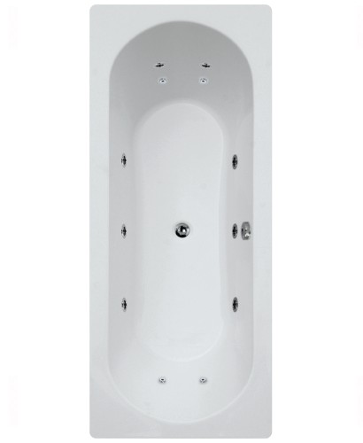 Crofton 1800 x 800 Double Ended 12 Jet Whirlpool Bath