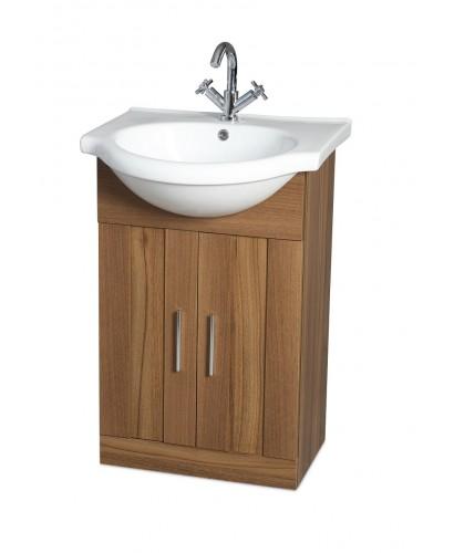 Cordoba Walnut 55cm Vanity Unit & Basin