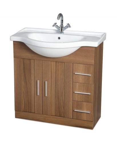 Cordoba Walnut 85cm Vanity Unit & Basin