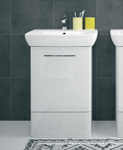 Twyford E100 550 White Vanity Unit - Floor Standing