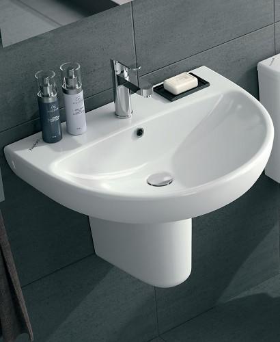 Twyford E100 Round 550 Basin & Semi Pedestal