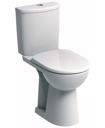 Twyford E100 Round Close Coupled Comfort Height Toilet & Soft Close Seat