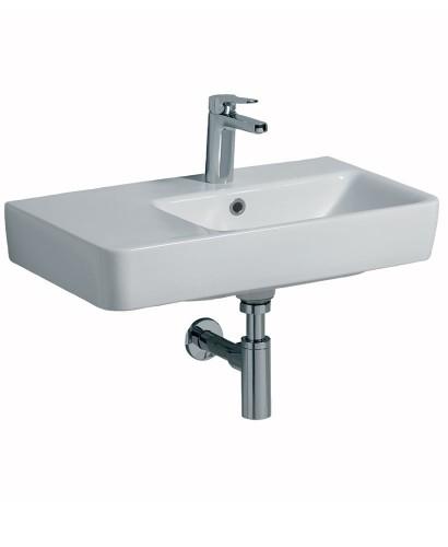 Twyford E200 650 Basin LH Shelf