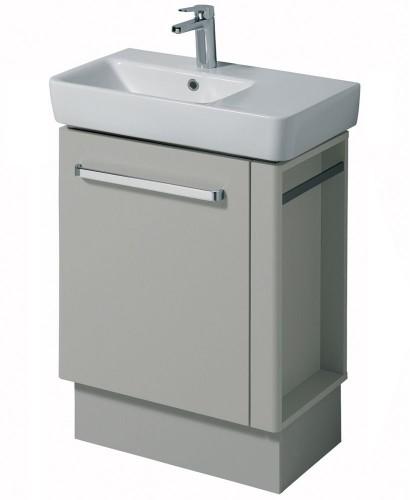 Twyford E200 650 Grey Vanity Unit Floor Standing with RH Towel Rail
