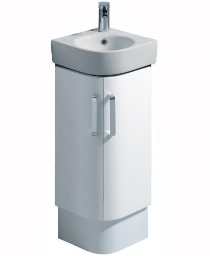 Twyford E200 320 White Corner Vanity Unit Floor Standing