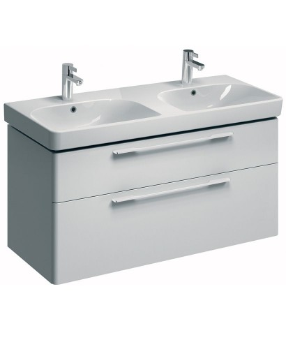 Twyford E500 1200 White Double Vanity Unit Wall Hung