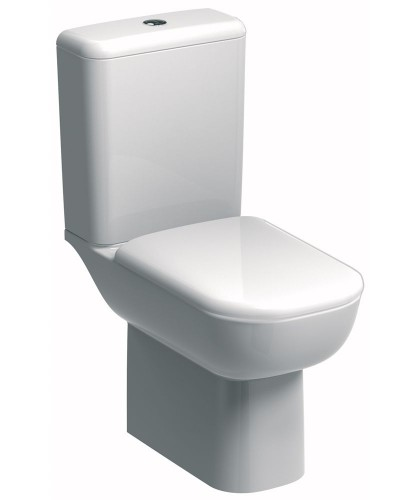 Twyford E500 Round Rimfree® Close Coupled Toilet & Soft Close Seat