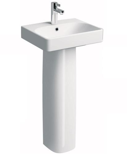 Twyford E500 Square 450 Basin & Pedestal
