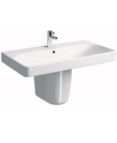 Twyford E500 Square 900 Basin & Semi Pedestal