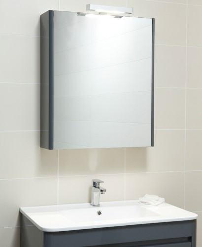 Elora 60 Mirror Cabinet & Light Anthracite