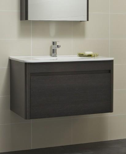 Elora 80cm Dark Wood Vanity Unit and Basin