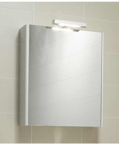 Elora 60 Mirror Cabinet & Light - White