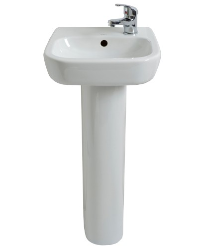 Farli 40cm Cloakroom Basin RH & Pedestal