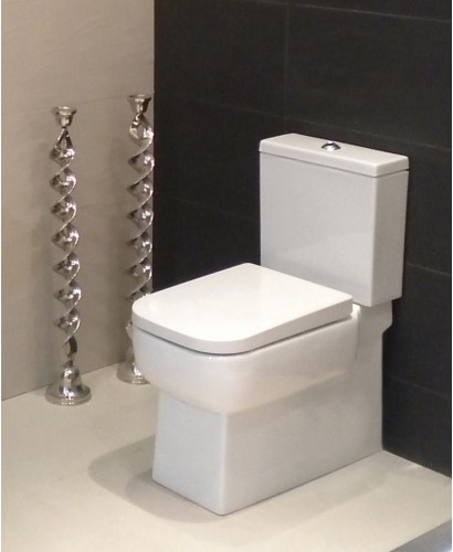 Monza Fully Shrouded Close Coupled Toilet & Soft Close Seat