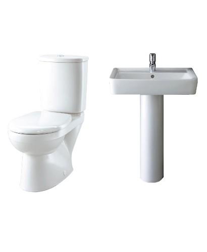 Twyford Galerie Plan Toilet and Wash Basin Set