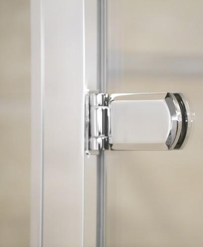 Rival 1200 bifold shower door with single infill panel for 1200 shower door hinged