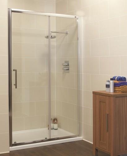 Kyra Range 1300mm Sliding Shower Door - Adjustment 1260 -1320mm