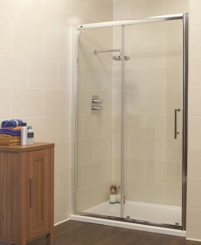 Kyra Range 1150 Sliding Shower Door - Adjustment 1100-1160mm