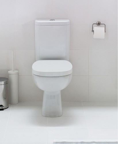 Farli Close Coupled Toilet & Soft Close Seat - Short Projection - 625mm