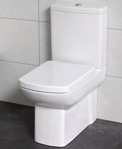 Zara Fully Shrouded Close Coupled Toilet with Soft Close Seat - with ECO Flush
