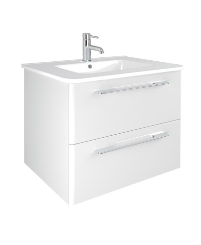 Ramia White 60cm Vanity Unit 2 Drawer and Basin