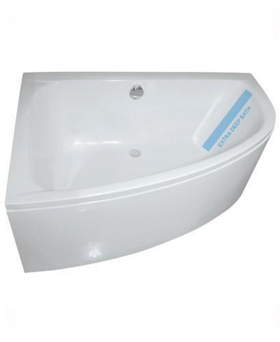 Mayfair 1500 x 1000mm offset corner bath left hand bath for Small baths 1500