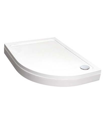 Easy Plumb Slimline 1200 x 800 Offset Quadrant Tray Right Hand