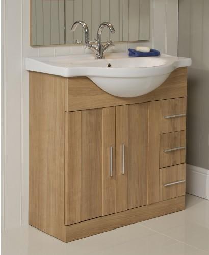Cordoba Oak 75cm Vanity Unit & Basin