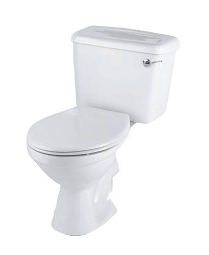 Twyford Option Close Coupled Toilet Lever Flush & Corsica Seat