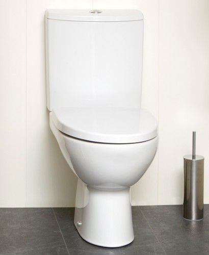 Prato Close Coupled Toilet & Soft Close Seat - Short Projection 615mm