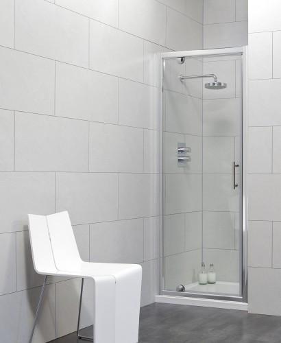Cello 900 Pivot Shower Door - Adjustment 840-890mm