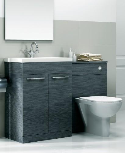 Paola Grey Slimline 60cm Combination Unit - 2 Door - 1215mm - with Toilet