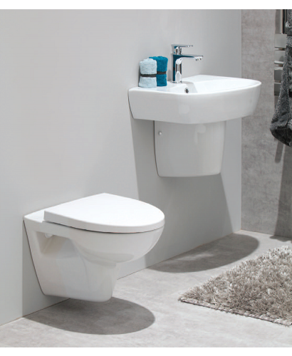 Prato Wall Hung Toilet and Basin Set - Tap included*