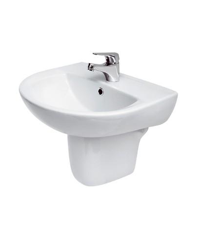 Modena Basin 50cm & Semi Pedestal - Wash Basin with Semi Pedestal ...