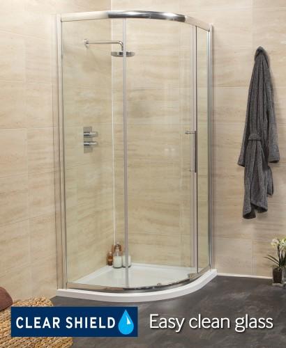 Rival 900 Quadrant Single Door Shower Enclosure - Adjustment 850-880mm