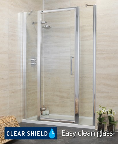 Rival 1500 Hinge Shower Door with Two Infill Panels - Adjustment 1440-1500mm