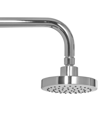 Ravia Round 120 Shower Head & 300 Wall Shower Arm - All Chrome