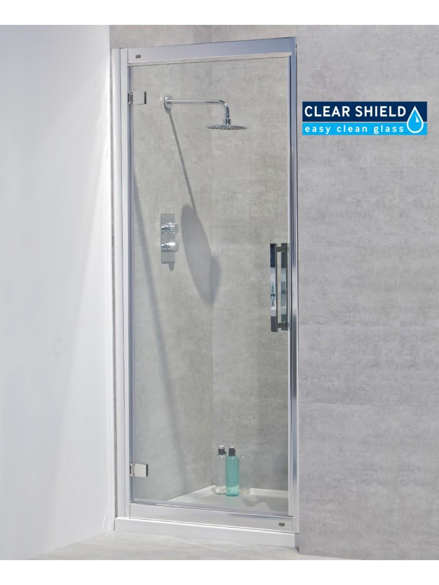 Avante 8mm 900 Hinged Shower Door - Adjustment 840-900mm