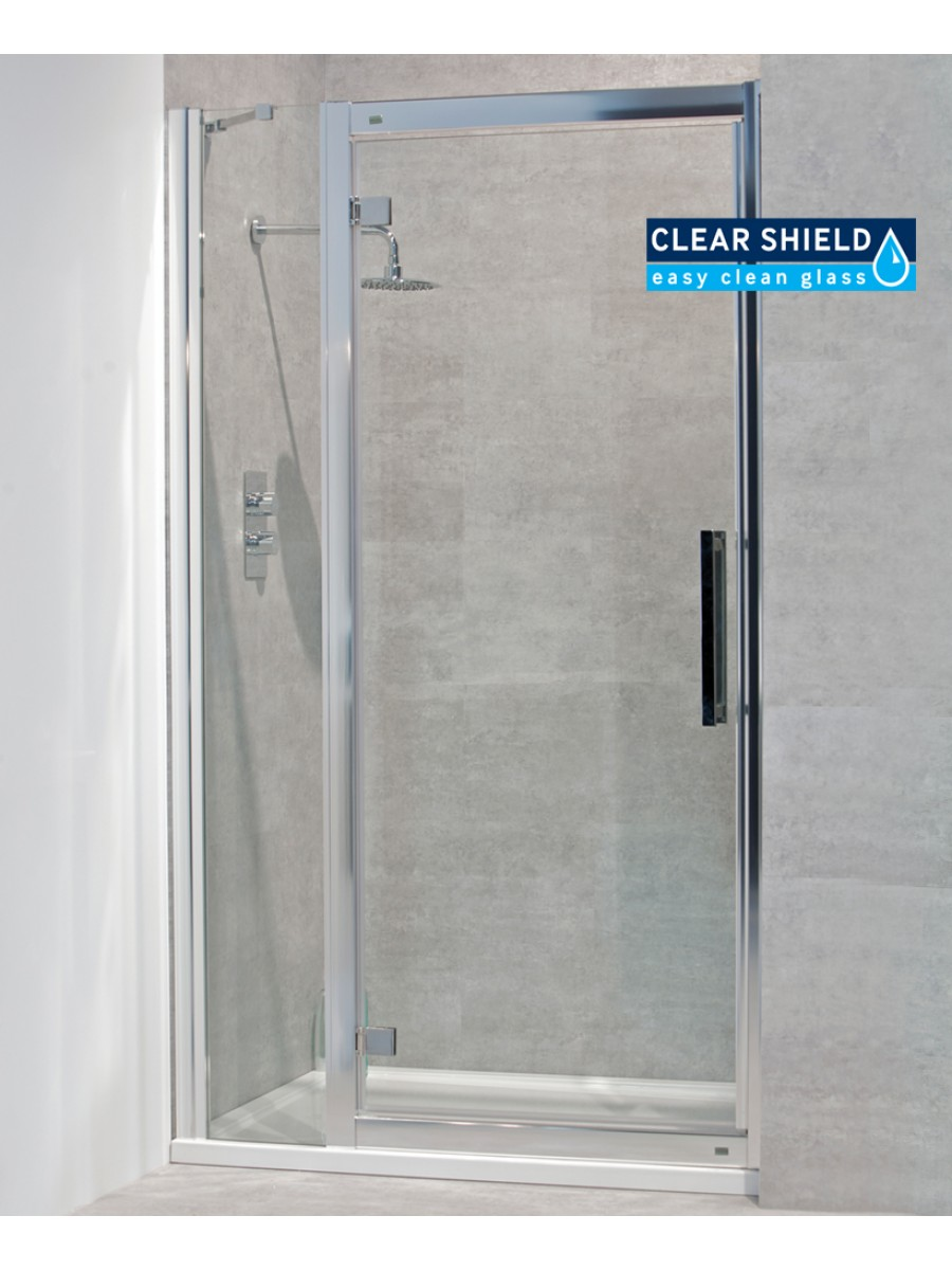 Avante 8mm 1200mm Hinged Shower Door and Single Infill Panel - Adjustment 1140-1200mm