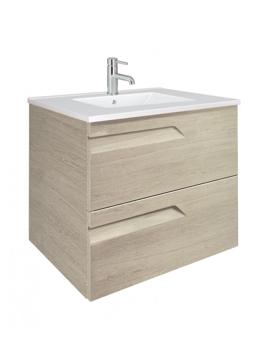 Pravia Maple 60cm Vanity Unit 2 Drawer and Basin
